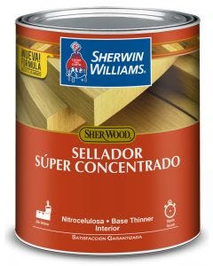 Sellador super concentrado de madera con thinner Sherwin Williams 1/4 galon