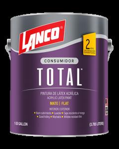 Pintura Latex Acrílica Color Blanco Total Lanco 1 galon