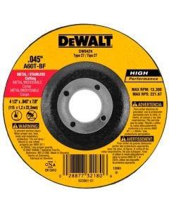 """Disco para Corte de Metal Fino 4 1/2"""" Dewalt"""