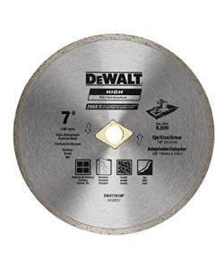 """Disco Diamantado Continuo 7"""" Dewalt"""