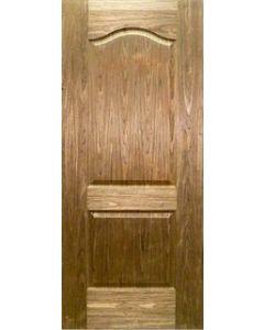 Puerta Semisólida BLK/WAL 2 Paneles Curvos 3'x7'x35mm