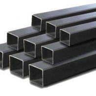 "Tubo cuadrado de hierro negro 1-1/2""x1-1/2""x1/8"" 5.8mts"