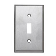 Tapa metálica para interruptor