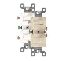 Interruptor doble Ivory 15a/125V