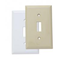 Tapa para interruptor sencilla blanca