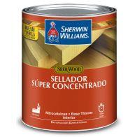 Sellador super concentrado de madera con thinner Sherwin Williams 1/4 galon