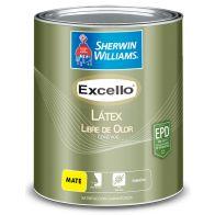 Pintura para interior Excello Latex Libre de olor Base Extra White 1 galon