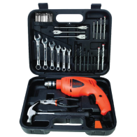 "Kit de taladro 3/8"" Black and Decker"